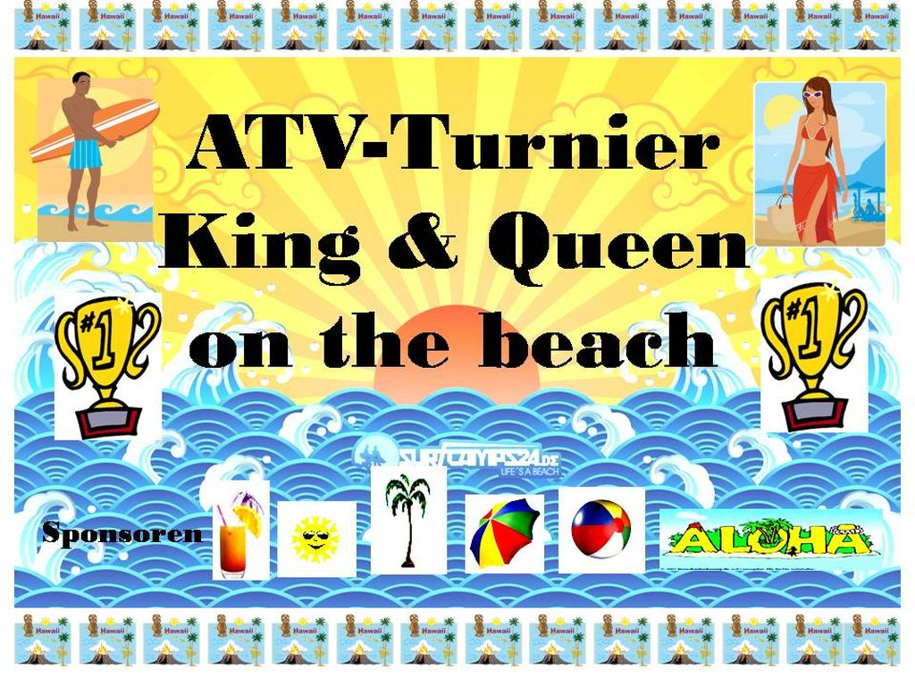 King & Queen on the beach 2009